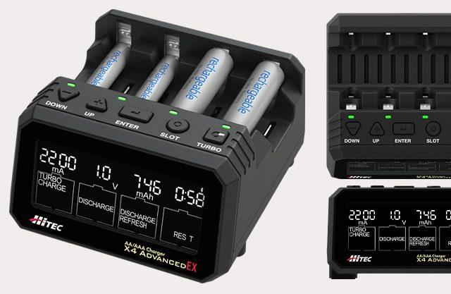 ハイテックから単三/単四充電器「X4 Advanced EX」が登場!